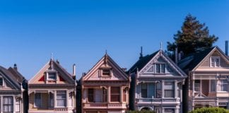 A row of houses in California.