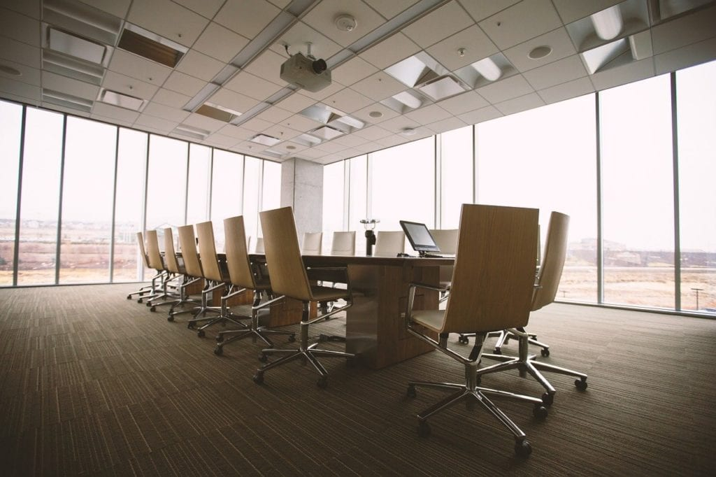 A picture of a conference room