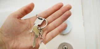 A hand with a key