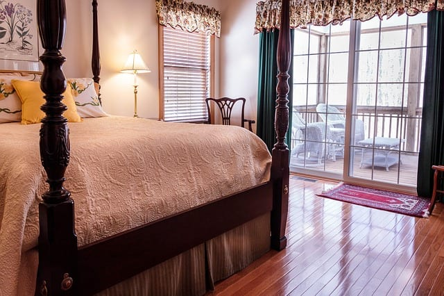 a cozy bedroom of a rental apartment