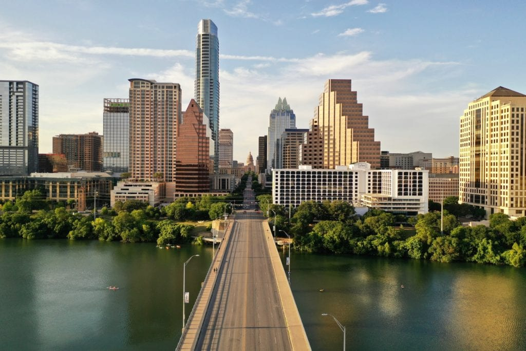 A bridge in Downtown Austin