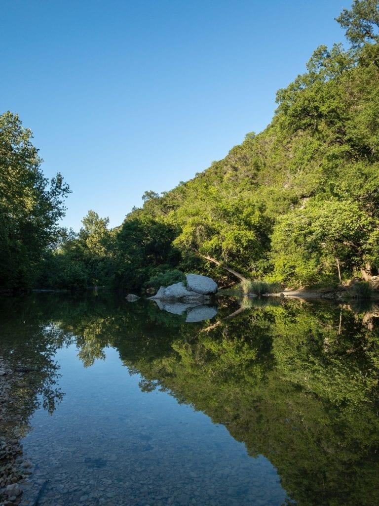 A body of water, Barton Creek, TX