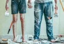 a couple after buying a fixer-upper in New York City