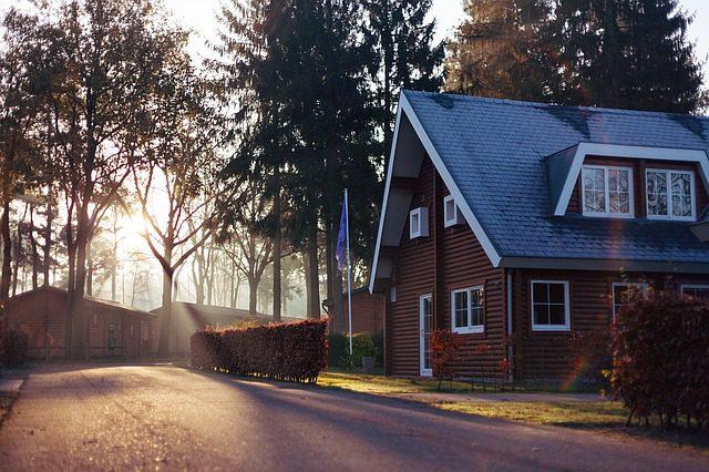 A shingle-style home.