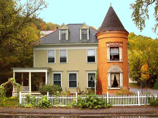 A home in New Hampshire, New England.